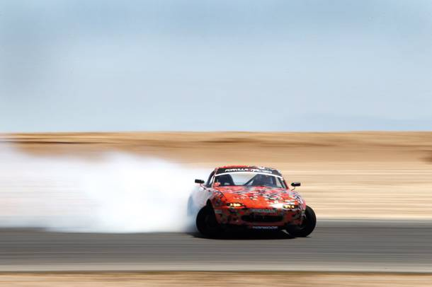 With a Corvette engine, a nitrous tank and Hankook tires that make beautiful smoke, the Miata earns its nickname: