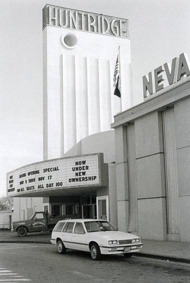 The Huntridge, during its movie-theater era.