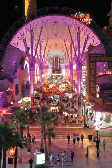 Imagine an action scene taking place on the Fremont Street Experience canopy.