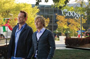 Owen Wilson and Vince Vaughn are back together in The Internship. Too bad the raunch and humor didn't tag along.