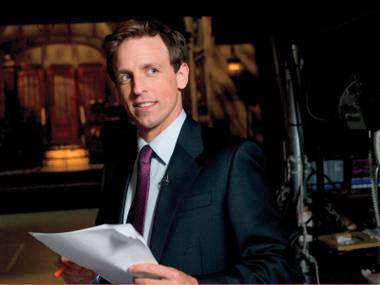 "Saturday Night Live ""Weekend Update"" newsman Seth Meyers takes over Jimmy Fallon's Late Night time slot in 2014."