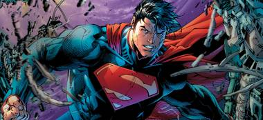 Super talent: Jim Lee's Superman art is stunning, and the comics pro will be in Vegas this weekend.