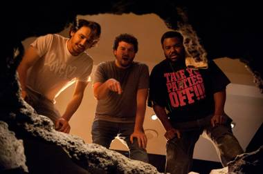 James Franco, Danny McBride and Craig Robinson face annihilation.