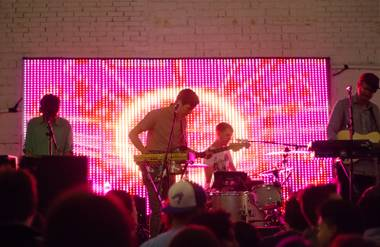 STRFKR lights up the Beauty Bar's back patio.