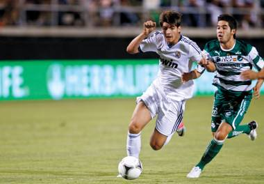 Last year's Herbalife World Football Challenge pitted Real Madrid against Santos Laguna—at our own Sam Boyd Stadium. More goodness is to come July 3.
