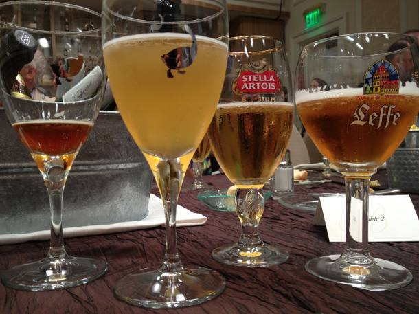 Behold the Belgian beers bestowed at Bellagio's barbecue.