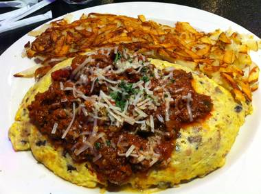 This omelet is as big as a car and that's the only similarity.
