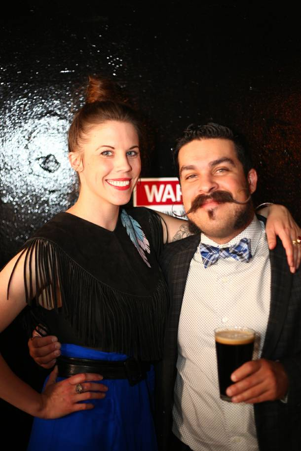 Velveteen Rabbit co-owner Pamela Dylag and Southern Wine & Spirits' Russell Gardner at the bar's grand opening on July 9, 2013.