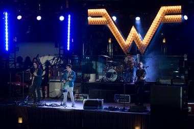 Weezer ran through all its hits at the Cosmopolitan's Boulevard Pool on Saturday night.