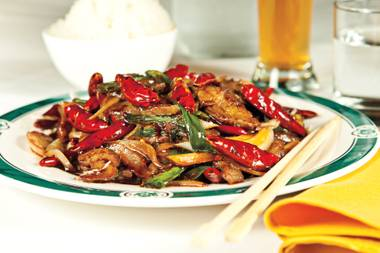 The Dragon Noodle Co. version of Mongolian beef is big on heat and flavor.