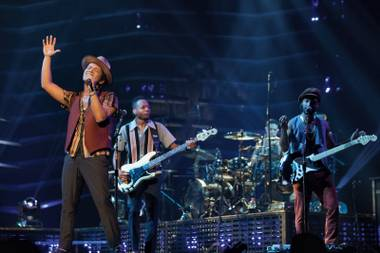 Bruno Mars and his band killed it at the MGM Grand Arena on August 3.