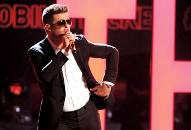 Smooth operator: Robin Thicke will blur some lines at the Cosmopolitan this weekend.