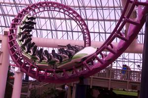 When Tom Nolan started as a supervisor at Adventuredome, he had to ride the Canyon Blaster every morning as part of testing. No coffee necessary.