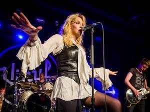 Courtney Love performs at the Hard Rock Hotel's Vinyl room on August 22.