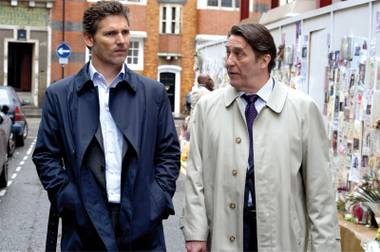 Eric Bana and Ciaran Hinds star in the tense Closed Circuit.