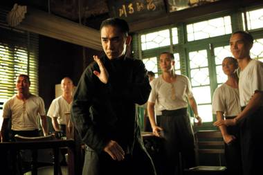 Tony Leung as Ip Man prepares to take on all comers in The Grandmaster.