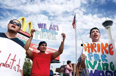 A fast-food wages protest group stunned the breakfast crowd at a local McDonald's last week.