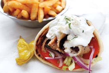 Layers of juicy beef or lamb blend with feta and house-made tzatziki for one unbelievable gyro.