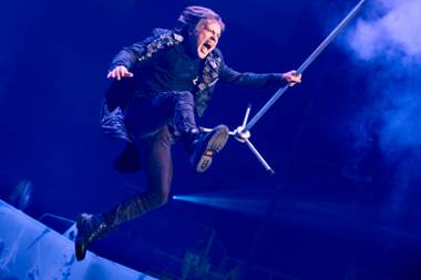 Iron Maiden frontman Bruce Dickinson, looking—and sounding—as spry as ever.