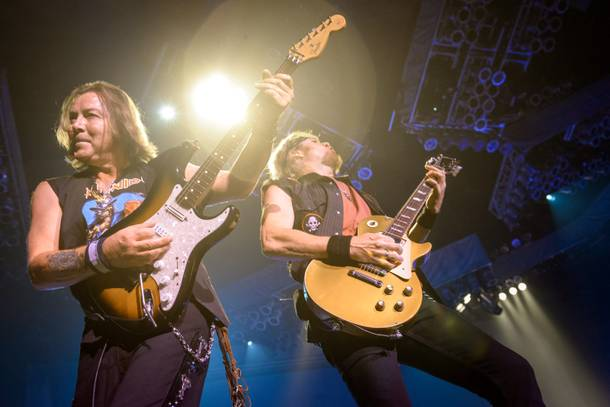 Guitarists Dave Murray and Adrian Smith (right)
