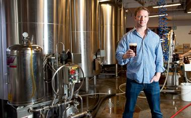 Brian Chapin, founder of Motley Brews, at the Tenaya Creek brewery.