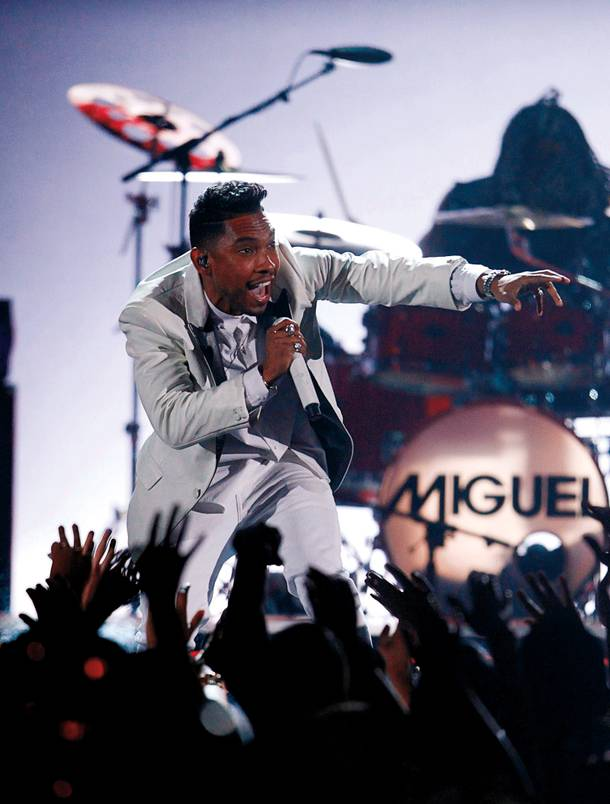 Adored: Miguel is the man of the hour at Tao this Saturday.