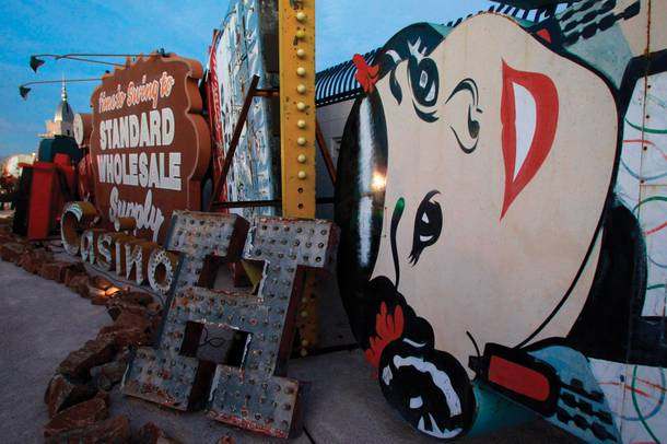 The Neon Museum offers guided tours at night.
