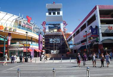 The 108-foot-tall Slotzilla will soon be shooting brave souls over the Fremont Street Experience at 35 miles per hour.