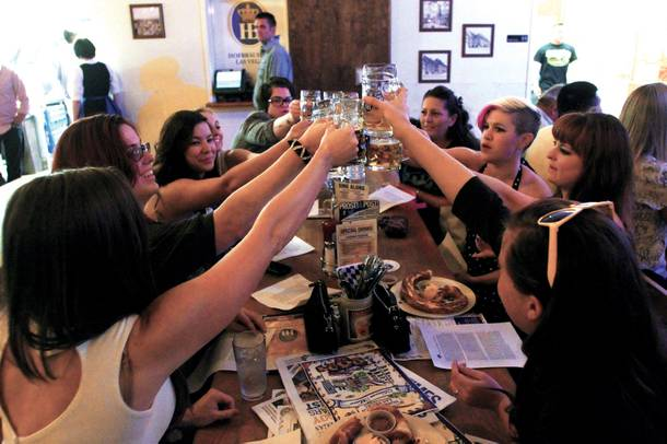 Angel toast: Clinking to craft beer.