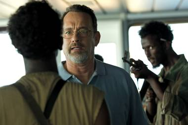 "Tom Hanks plays the noble, pragmatic titular role in ""Captain Phillips."""