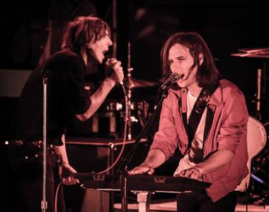 "French indie rockers Phoenix are touring in support of fifth album ""Bankrupt!"" and brought the show to Cosmopolitan's Boulevard pool on October 8."