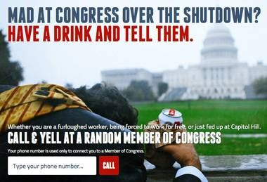 drunkdialcongress.com: It's just like college—only instead of dialing a douchey ex for no reason, you're talking to a legislator about the Panda Cam.