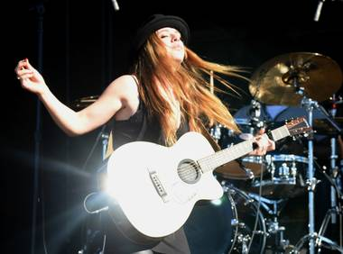 ZZ Ward plays the Downtown Stage on Day 1 of Life Is Beautiful Festival.