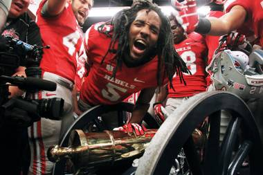 After eight years of losses UNLV finally took the Fremont Cannon from UNR last Saturday, with a win of 27 to 22.