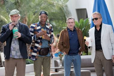 Kevin Kline, Morgan Freeman, Robert De Niro and Michael Douglas pick up easy paychecks in Last Vegas.