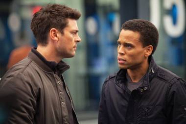 Karl Urban, left, and Michael Ealy star in the latest attempt at the next Fringe: Almost Human.