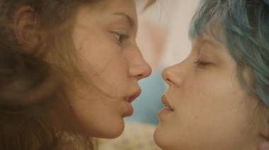 Adèle Exarchopoulos, left, and Léa Seydoux bring depth and heart to the NC-17-rated Blue Is the Warmest Color.