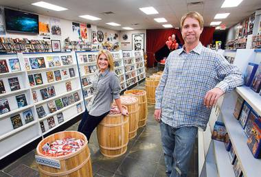 Now showing: Movies & Candy's Trevor and Katie Layne swear video-rental stores aren't history just yet.