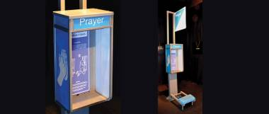 "Dylan Mortimer's ""Prayer Booth"" at Trifecta"