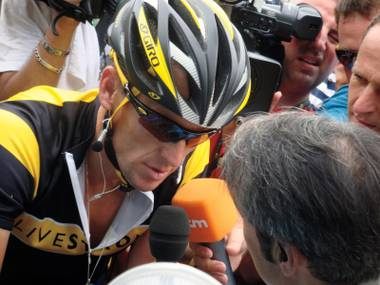 What began as a feel-good doc about Lance Armstrong became … this.
