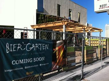 The Plaza's new German-themed beer garden and eatery should open by the end of the year.