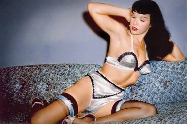 Bettie Page, iconic pin-up.