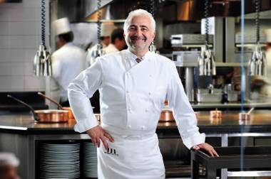 Legendary chef Guy Savoy's only restaurant in the United States is at Caesars Palace.